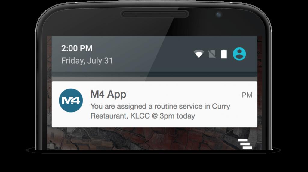 M4 service reminder