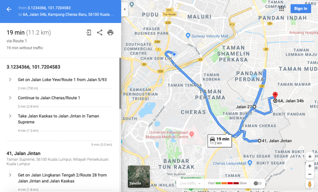M4 with google maps